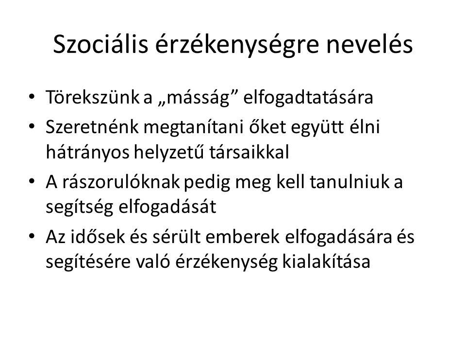 Szociális érzékenységre nevelés