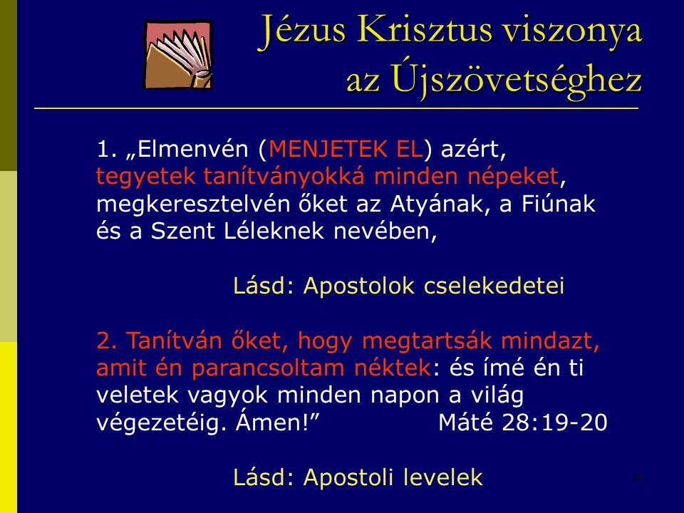 Jézus Krisztus viszonya az Újszövetséghez