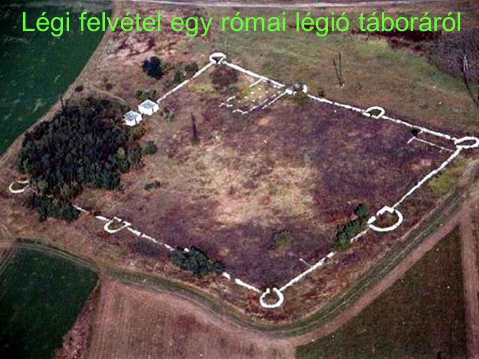 Légi felvétel egy római légió táboráról