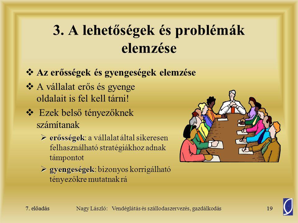 3. A lehetőségek és problémák elemzése