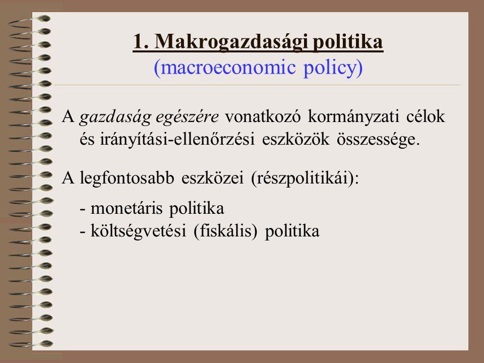 1. Makrogazdasági politika (macroeconomic policy)