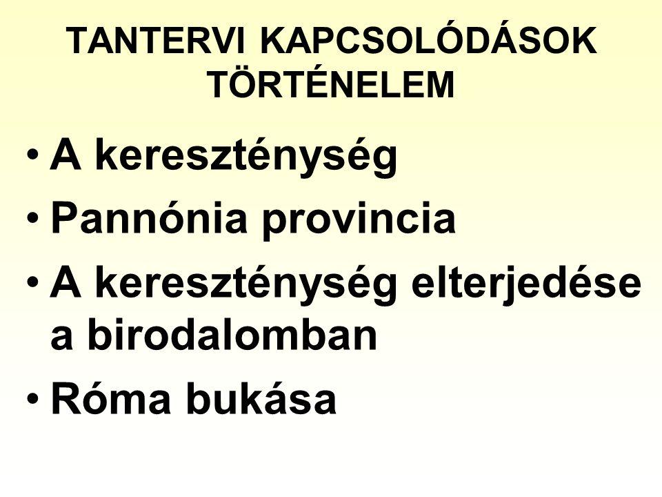 TANTERVI KAPCSOLÓDÁSOK TÖRTÉNELEM