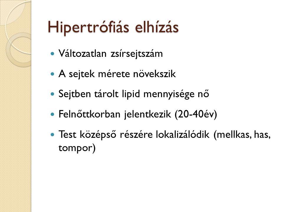 Hipertrófiás elhízás Változatlan zsírsejtszám