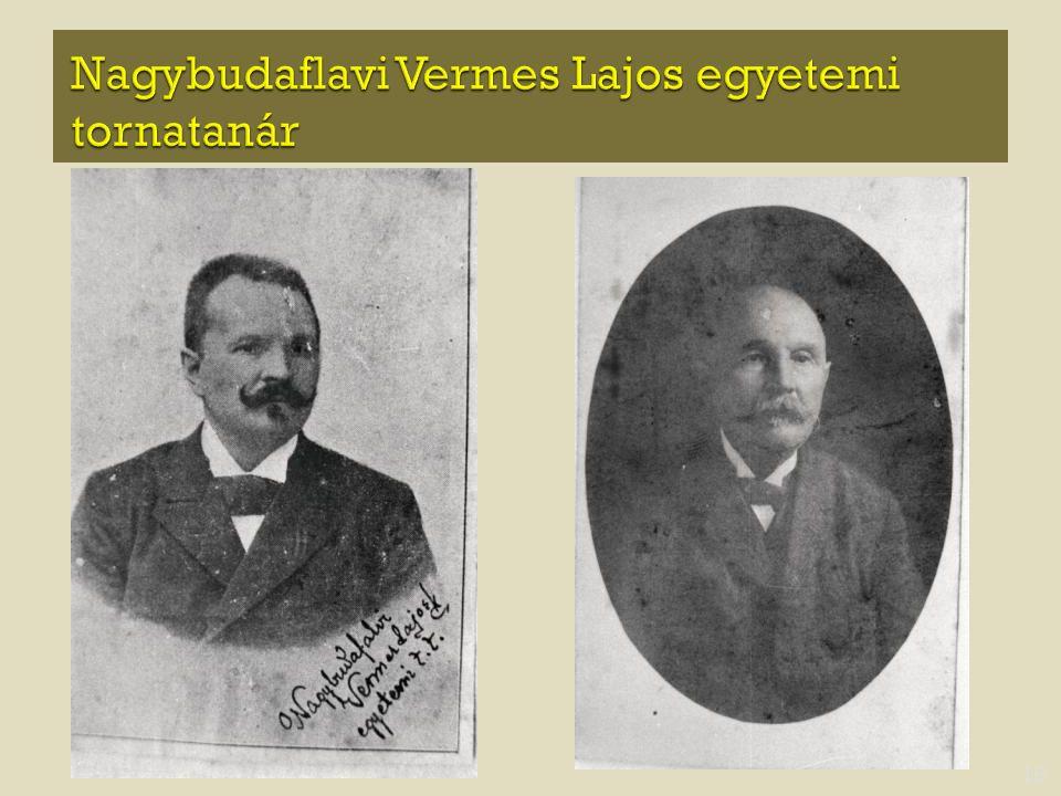 Nagybudaflavi Vermes Lajos egyetemi tornatanár