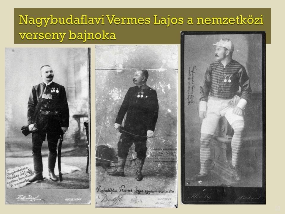 Nagybudaflavi Vermes Lajos a nemzetközi verseny bajnoka
