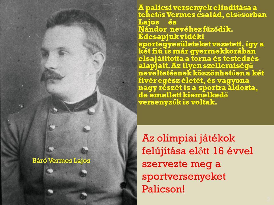 A palicsi versenyek elindítása a tehetős Vermes család, elsősorban Lajos és
