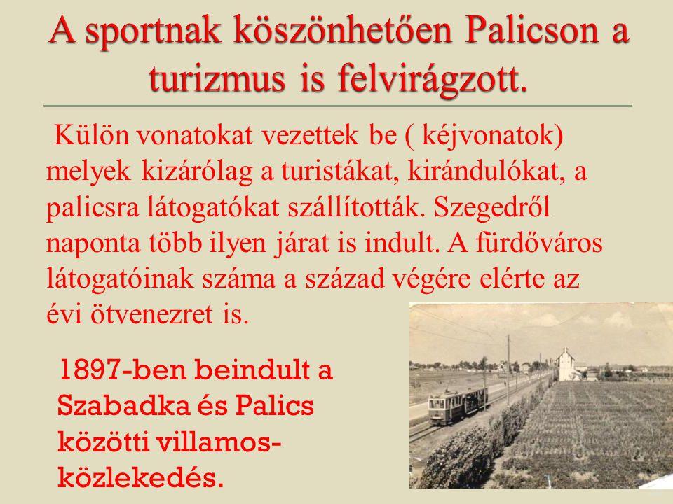 A sportnak köszönhetően Palicson a turizmus is felvirágzott.