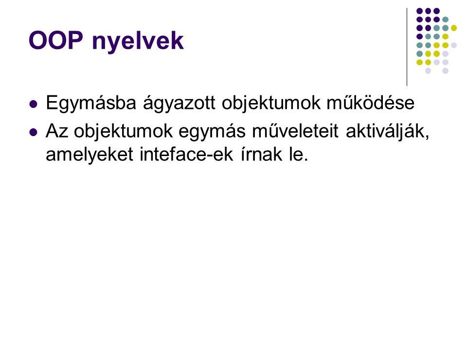 OOP nyelvek Egymásba ágyazott objektumok működése