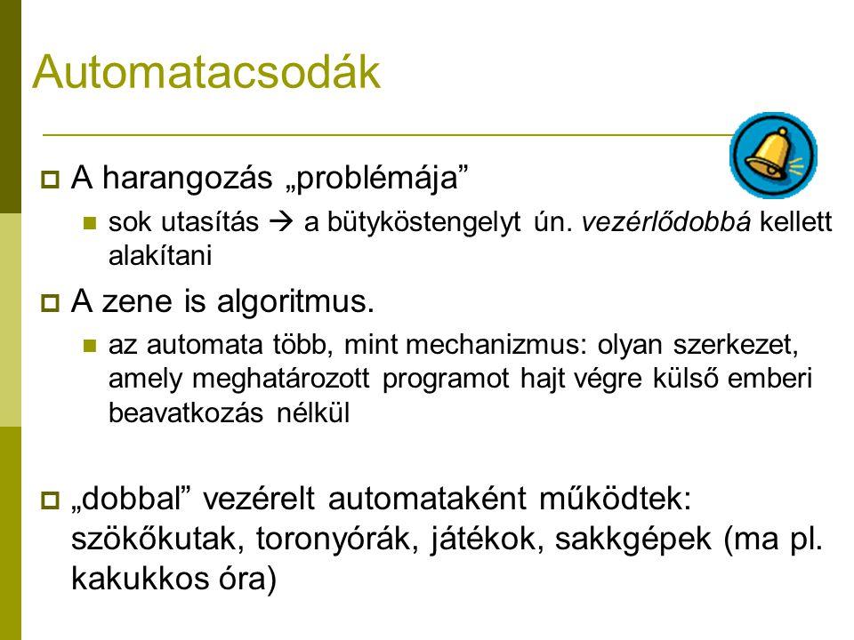 """Automatacsodák A harangozás """"problémája A zene is algoritmus."""