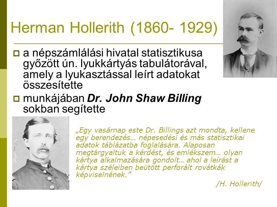 Herman Hollerith (1860- 1929)