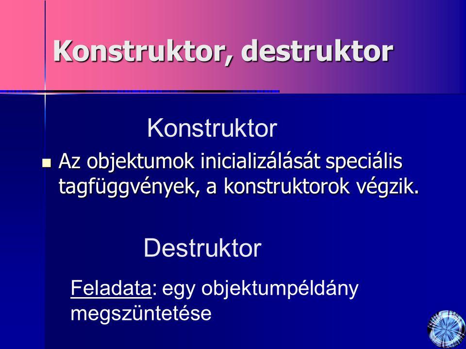 Konstruktor, destruktor