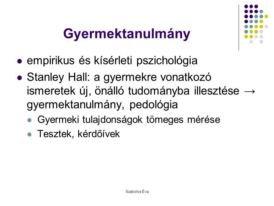 Gyermektanulmány empirikus és kísérleti pszichológia