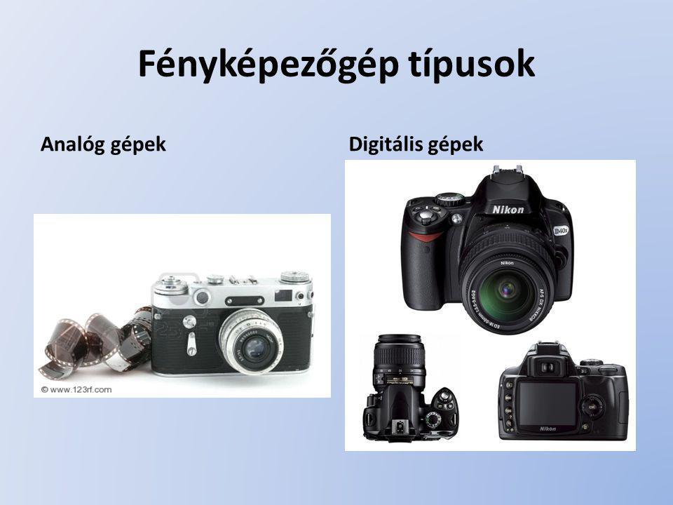 Fényképezőgép típusok