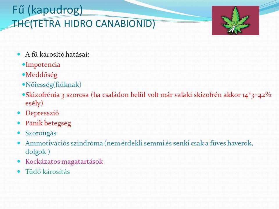 Fű (kapudrog) THC(TETRA HIDRO CANABIONID)