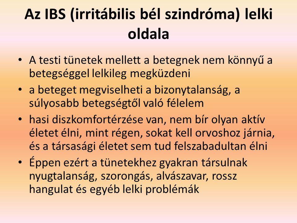 Az IBS (irritábilis bél szindróma) lelki oldala