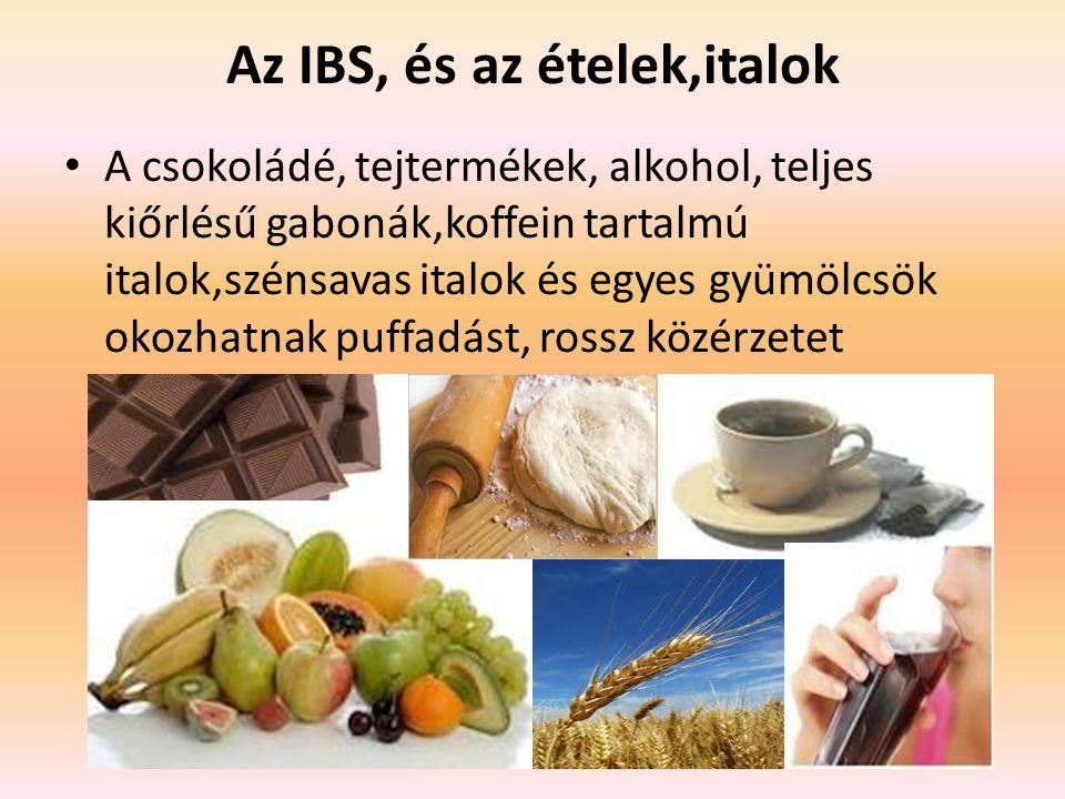 Az IBS, és az ételek,italok