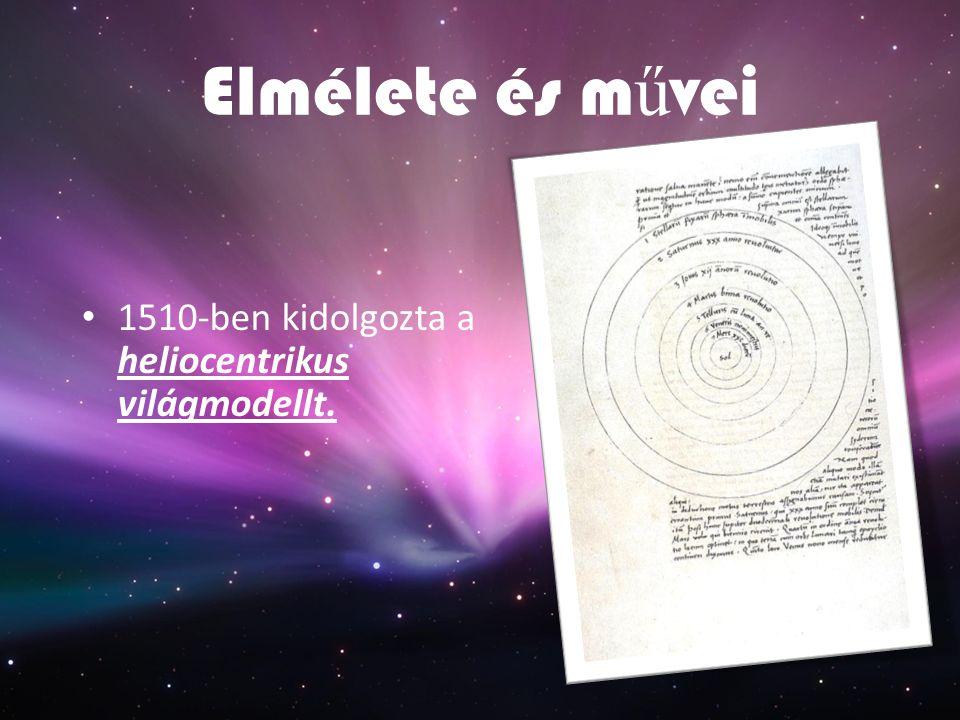 Elmélete és művei 1510-ben kidolgozta a heliocentrikus világmodellt.