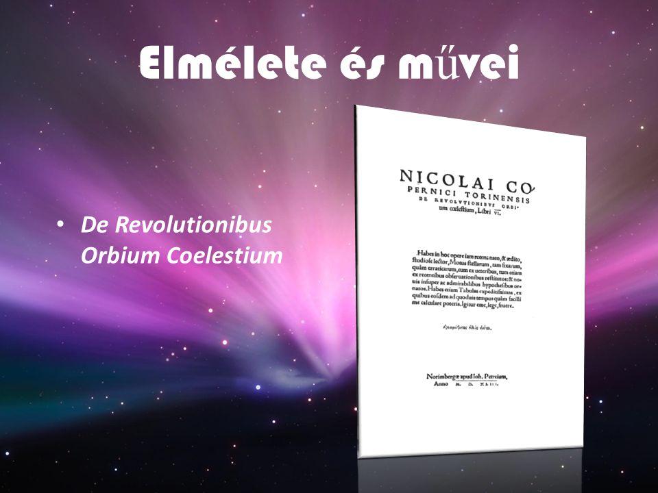 Elmélete és művei De Revolutionibus Orbium Coelestium