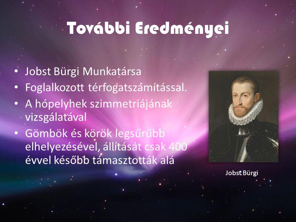 További Eredményei Jobst Bürgi Munkatársa