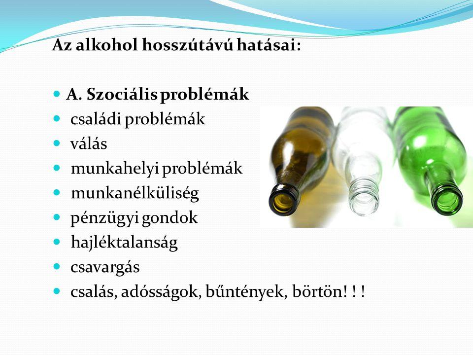 Az alkohol hosszútávú hatásai: