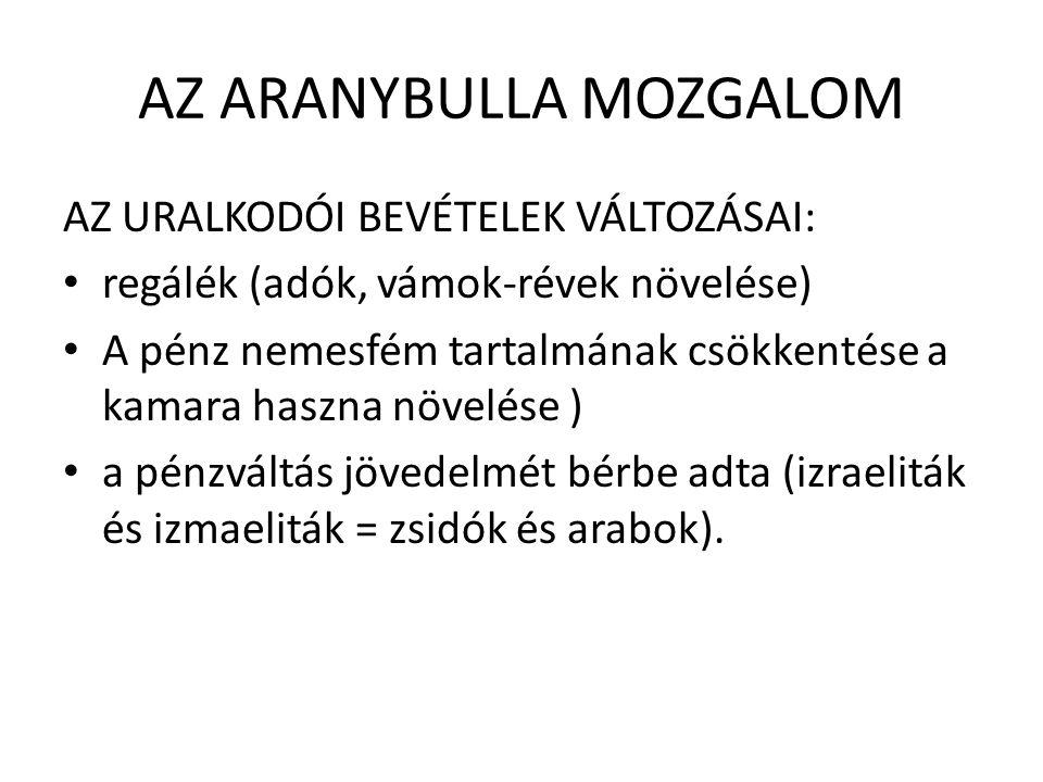 AZ ARANYBULLA MOZGALOM