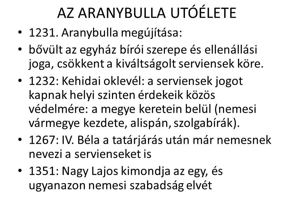 AZ ARANYBULLA UTÓÉLETE