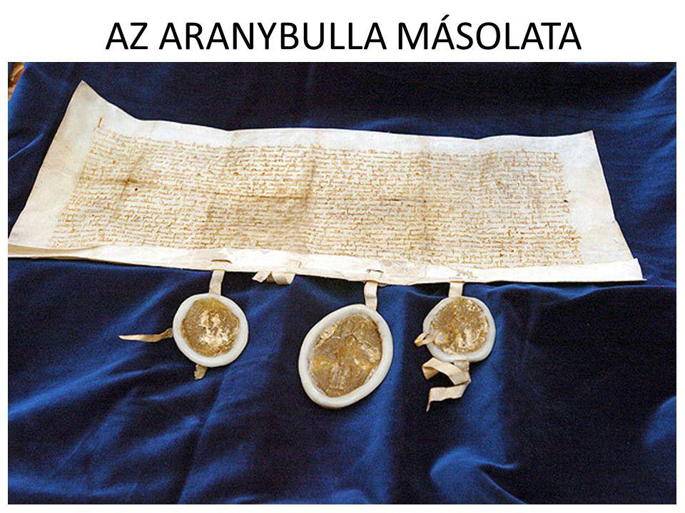 AZ ARANYBULLA MÁSOLATA