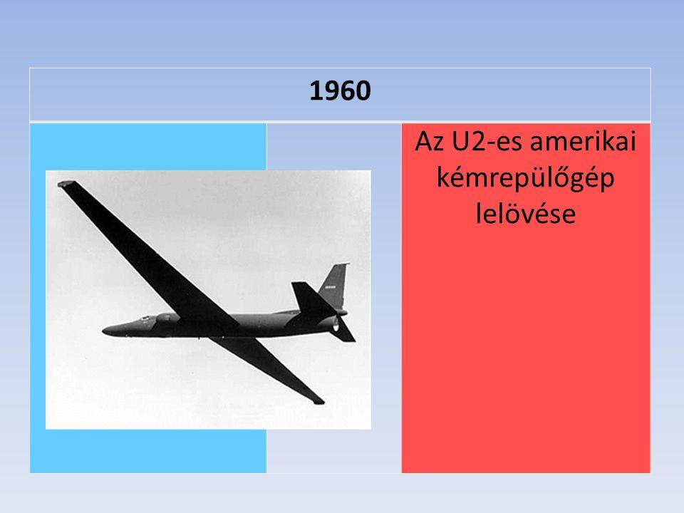 Az U2-es amerikai kémrepülőgép lelövése