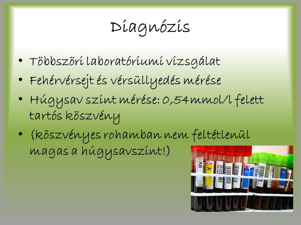 Diagnózis Többszöri laboratóriumi vizsgálat