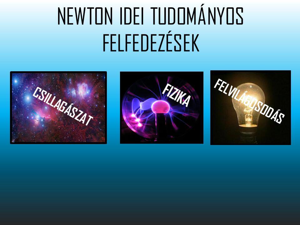 NEWTON IDEI TUDOMÁNYOS FELFEDEZÉSEK