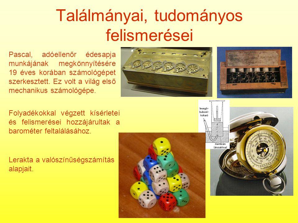 Találmányai, tudományos felismerései