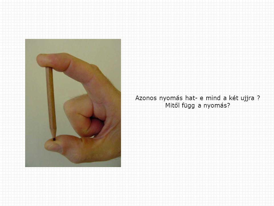 Azonos nyomás hat- e mind a két ujjra