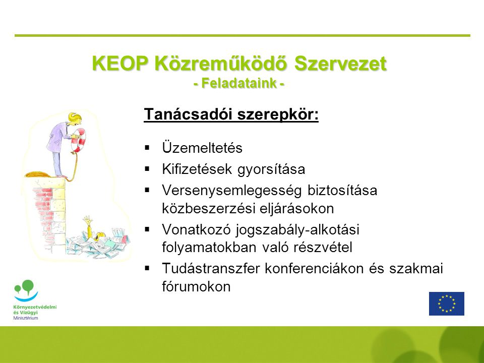 KEOP Közreműködő Szervezet - Feladataink -