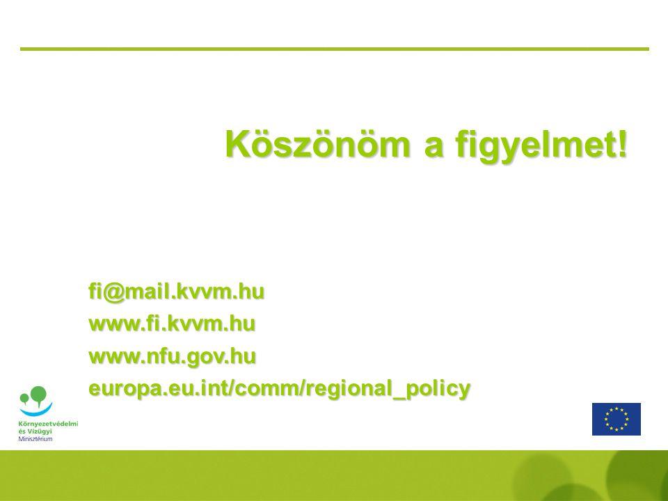 Köszönöm a figyelmet! fi@mail.kvvm.hu www.fi.kvvm.hu www.nfu.gov.hu