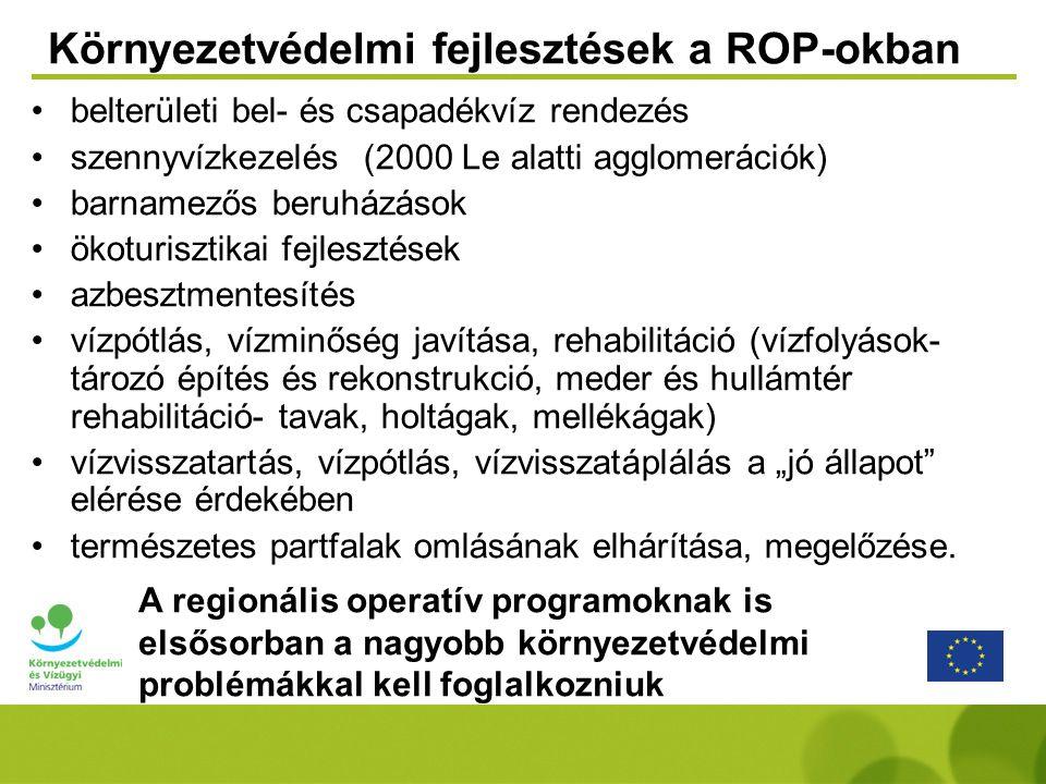 Környezetvédelmi fejlesztések a ROP-okban