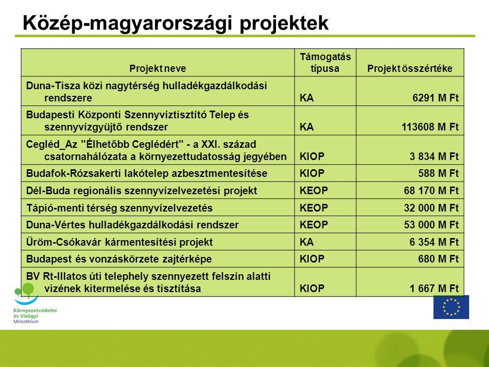 Közép-magyarországi projektek