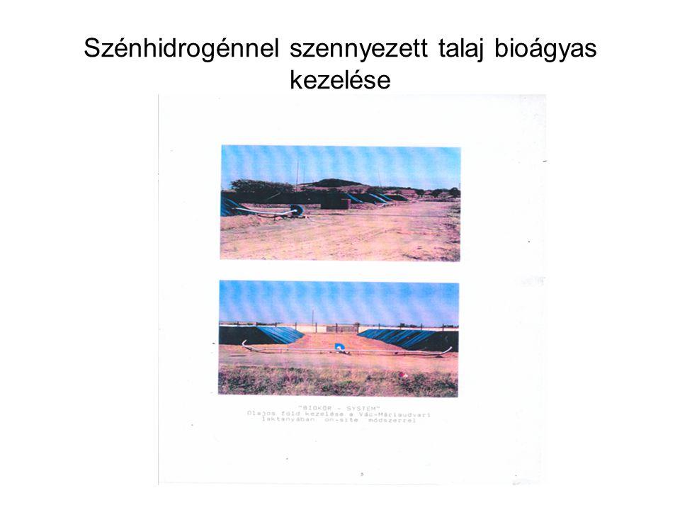 Szénhidrogénnel szennyezett talaj bioágyas kezelése