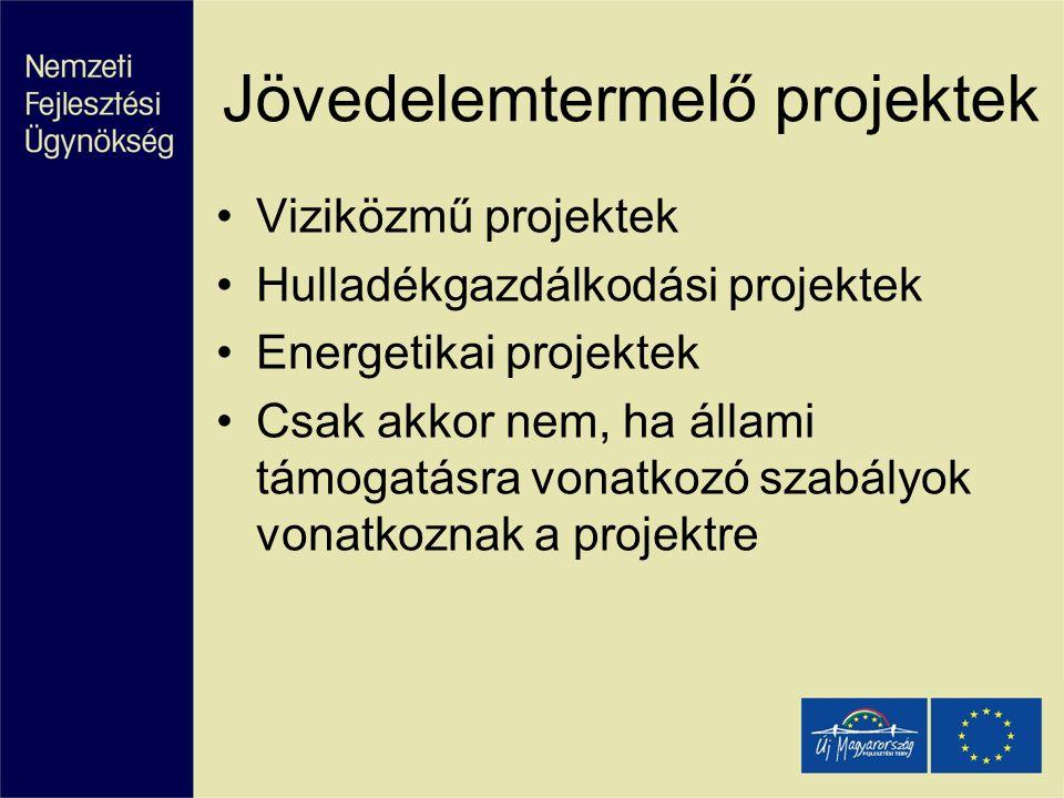 Jövedelemtermelő projektek