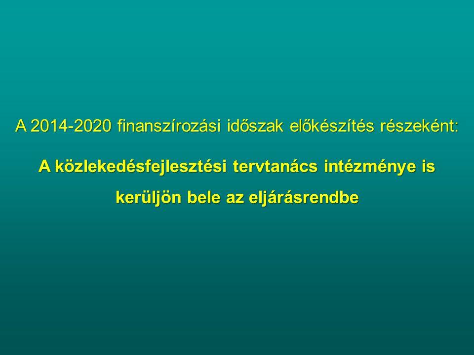 A 2014-2020 finanszírozási időszak előkészítés részeként: