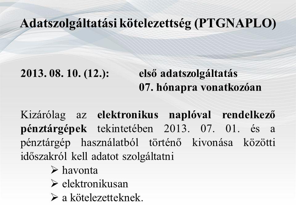 Adatszolgáltatási kötelezettség (PTGNAPLO)