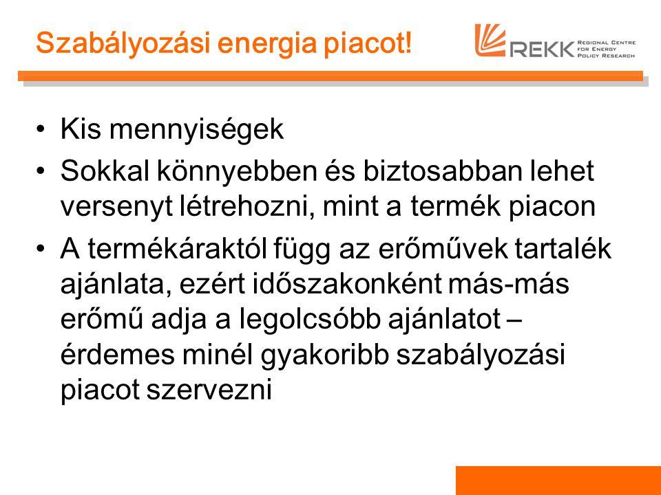 Szabályozási energia piacot!