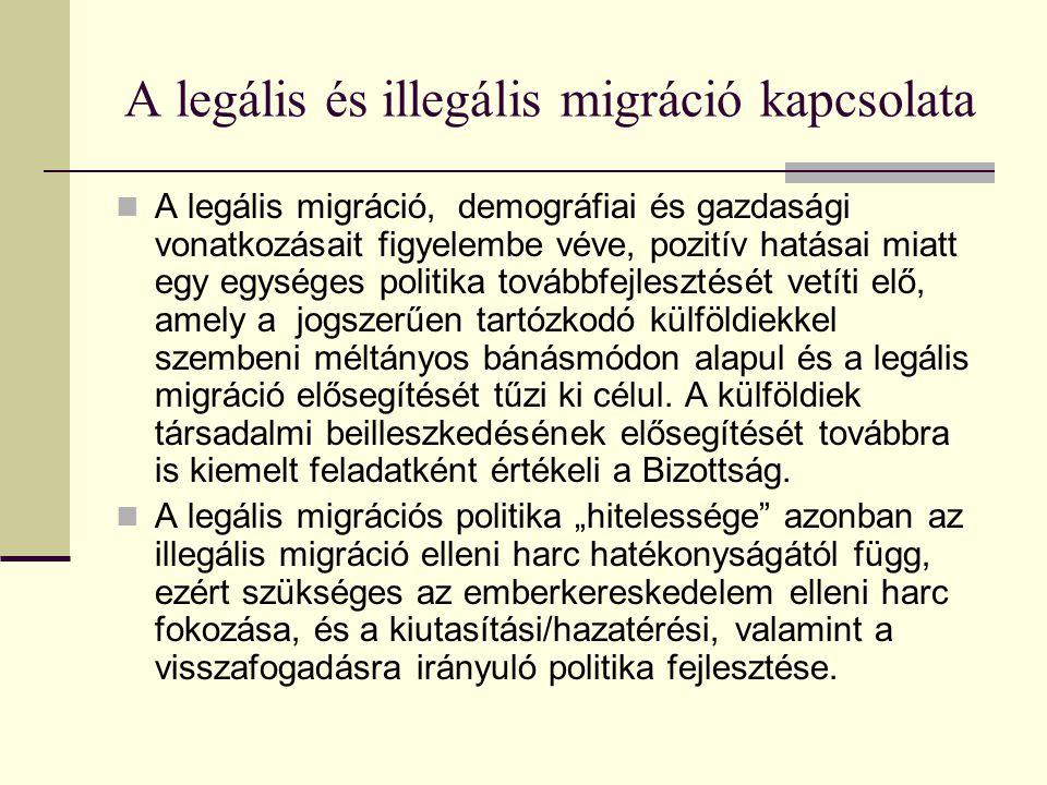 A legális és illegális migráció kapcsolata
