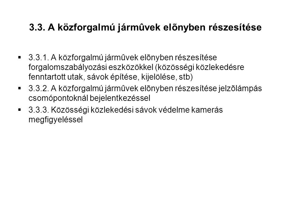 3.3. A közforgalmú jármûvek elõnyben részesítése