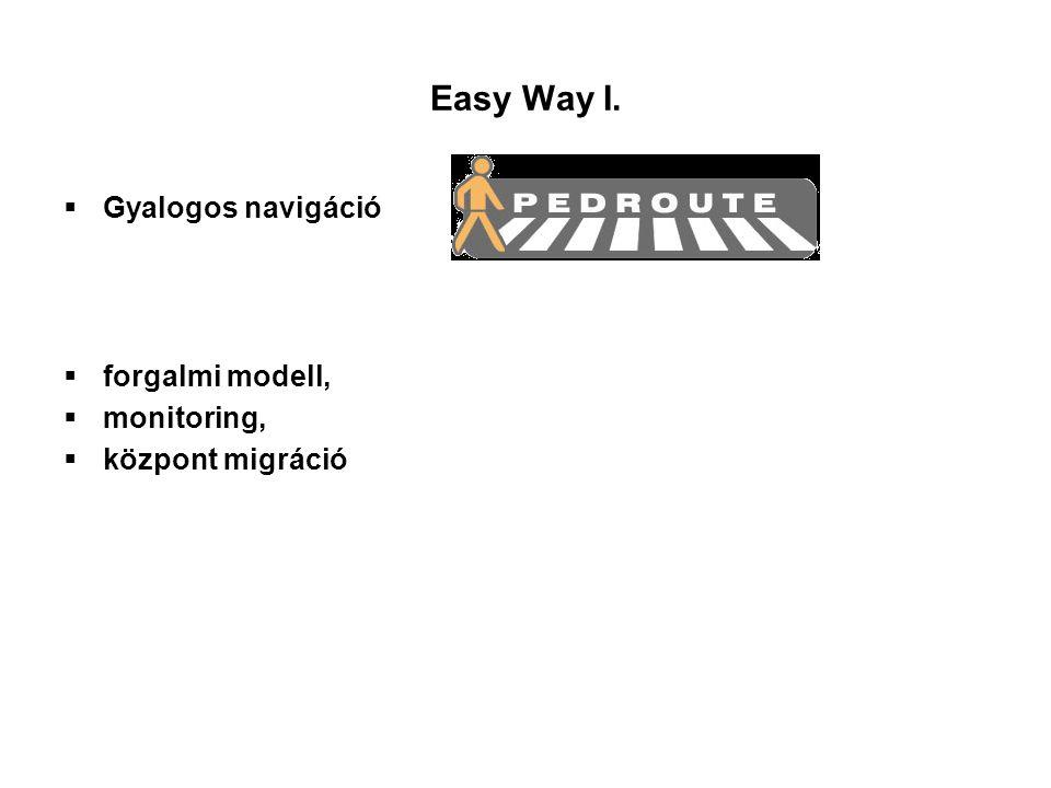 Easy Way I. Gyalogos navigáció forgalmi modell, monitoring,
