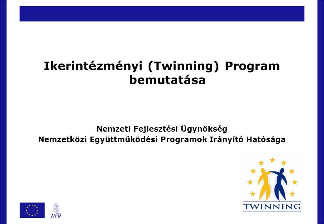 Ikerintézményi (Twinning) Program bemutatása