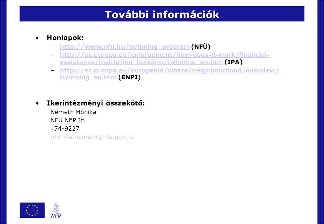 További információk Honlapok: Ikerintézményi összekötő: