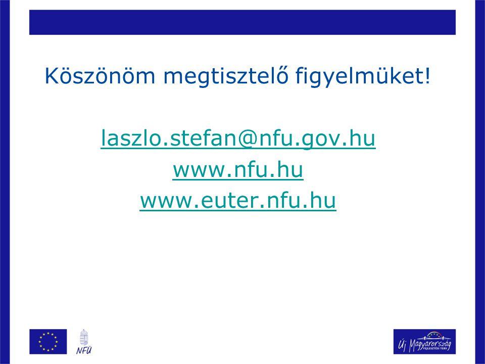 Köszönöm megtisztelő figyelmüket. laszlo. stefan@nfu. gov. hu www. nfu