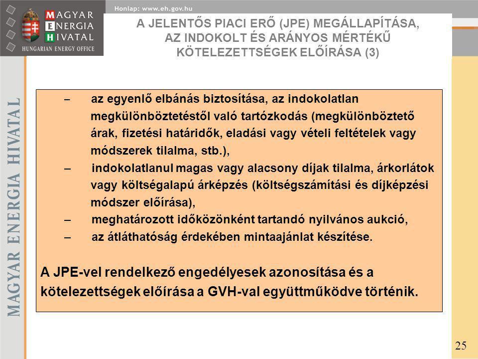 A JPE-vel rendelkező engedélyesek azonosítása és a