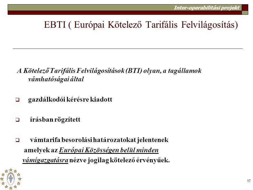 EBTI ( Európai Kötelező Tarifális Felvilágosítás)