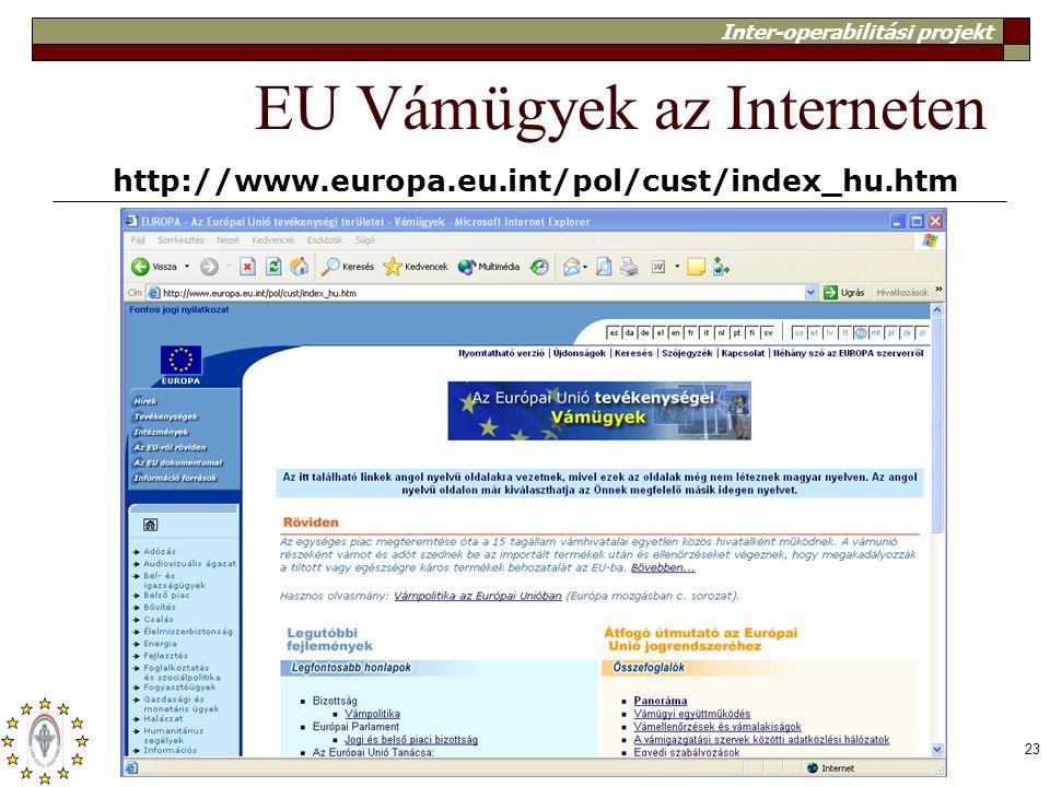 EU Vámügyek az Interneten